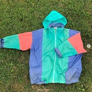 1992 VINTAGE Nylon Shell Jacket Retro Size XL